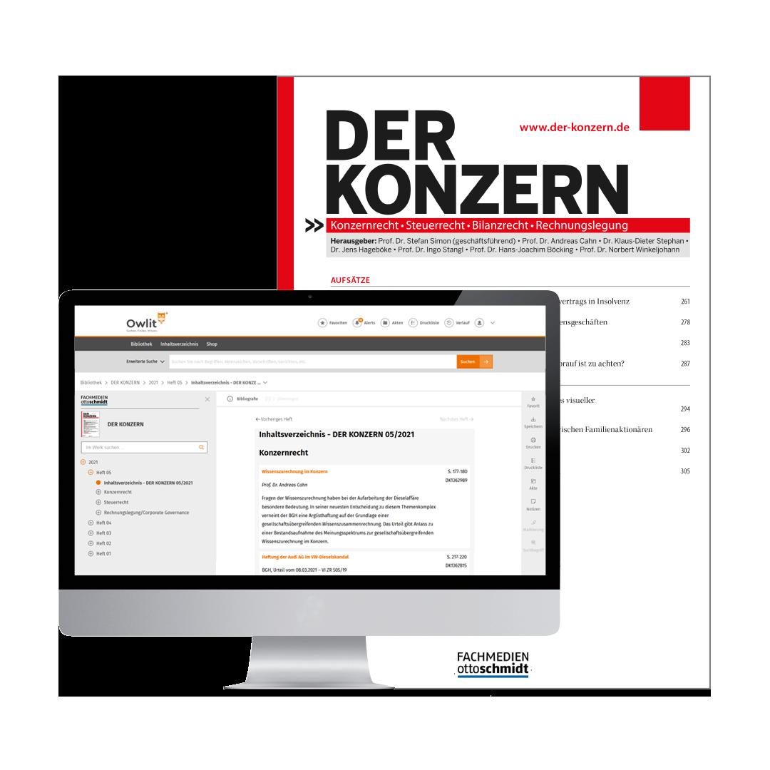 DER KONZERN - Zeitschrift für Gesellschaftsrecht, Steuerrecht, Bilanzrecht und Rechnungslegung der verbundenen Unternehmen